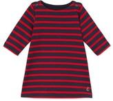 Petit Bateau Baby girls dress in striped heavy jersey