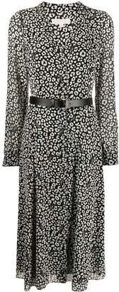 MICHAEL Michael Kors belted leopard-print shirt dress