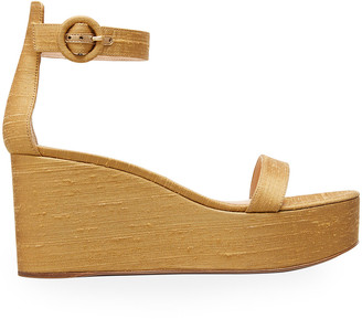 Gianvito Rossi Ankle-Strap Shatung Platform Wedge Sandals