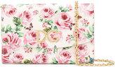 Dolce & Gabbana rose print clutch bag