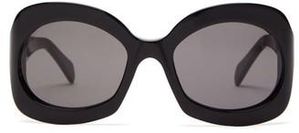 Celine Round Acetate Sunglasses - Black