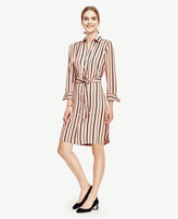 Ann Taylor Stripe Shirtdress