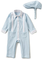 Edgehill Collection Baby Boys Newborn-6 Months Alexander Footed Coverall & Hat Set