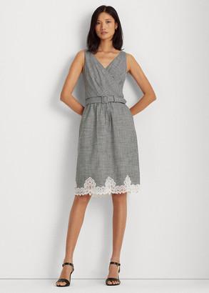 Ralph Lauren Gingham Cotton Eyelet Dress