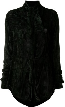 Unravel Project striped tuxedo shirt