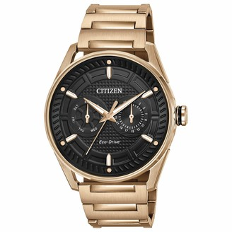 Citizen Men's Drive Quartz Watch with Stainless Steel Strap Rose Gold 22 (Model: BU4023-54E)