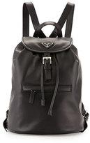 Prada Soft Calfskin Medium Backpack, Black (Nero)