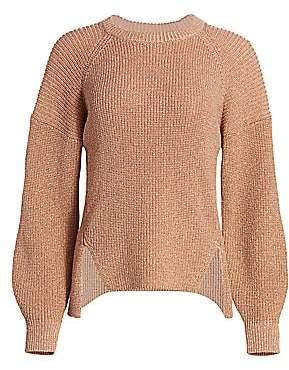 Joie Women's Cicilia Metallic Balloon-Sleeve Sweater