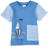 Zutano Sail Boat Big Pocket Tee (Baby) - Periwinkle-24 Months