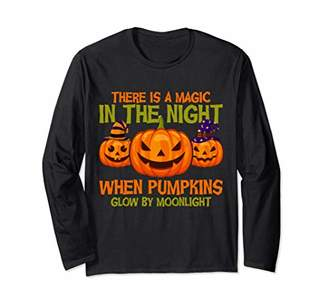 Magic Pumpkin Moonlight Happy Halloween Gift Long Sleeve T-Shirt