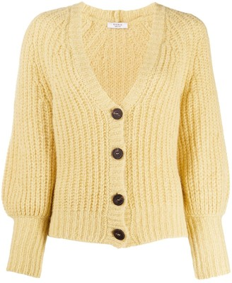 Peserico Ribbed V-Neck Cardigan