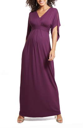 Ingrid & Isabel Split Sleeve Maternity Maxi Dress