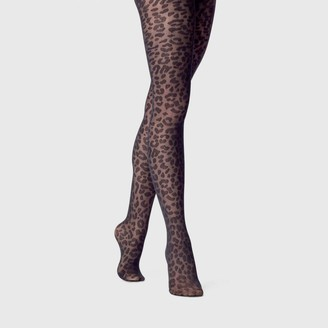 A New Day Women's Leopard Print Sheer Tights