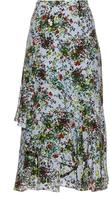 Erdem Bridget Field Flower-print silk-crepe skirt