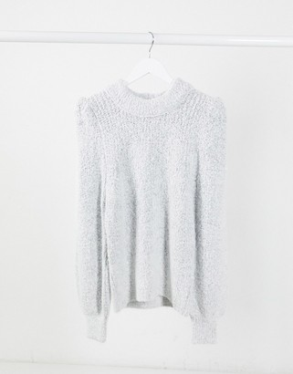 ASOS Design oversized sweater with bell sleeves in gray
