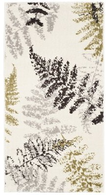 """Avon Bay Isle Home Ivory Floral and Plant Beige/Brown/Green Area Rug Bay Isle Home Rug Size: Rectangle 5'3"""" x 7'7"""""""