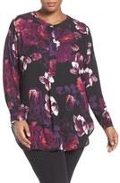 Sejour Plus Size Women's Henley Tunic