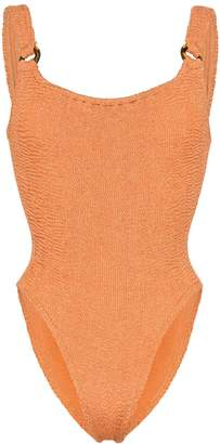 Hunza G Posey crinkle stretch swimsuit