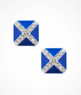Express Pave X Enamel Stud Earrings