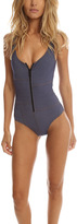 Lisa Marie Fernandez Jasmine Patchwork Zip One Piece