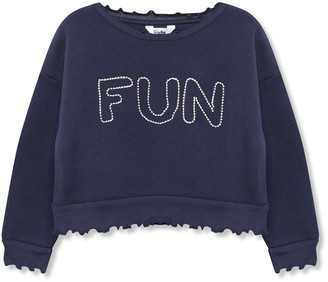 M&Co Diamante slogan sweatshirt (3-12yrs)