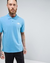 The North Face Pique Polo In Blue