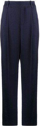 Vince High-Rise Pleat-Front Trousers