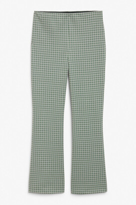 Monki Cropped flare trousers