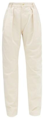 Matthew Adams Dolan - Pleated Straight-leg Jeans - Ivory