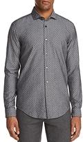 Boss Ridley Microprint Long Sleeve Button-Down Shirt
