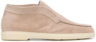 Santoni Fur-Lined Ankle Boots