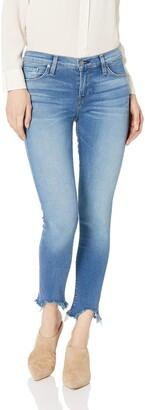 Hudson Women's Tally MID Crop Skinny RAW Hem 5 Pocket Jean