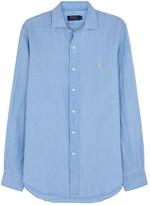 Polo Ralph Lauren Light Blue Custom Slubbed Linen Shirt