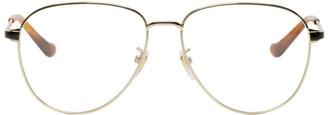 Gucci Gold Round Glasses