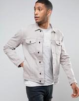 Religion Denim Jacket in Washed Gray Denim