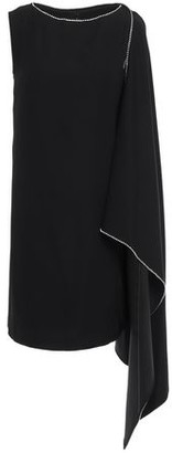 McQ Crystal-embellished Draped Cady Mini Dress