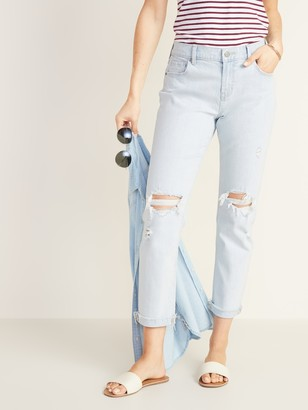 Old Navy Mid-Rise Distressed Boyfriend Jeans for Women