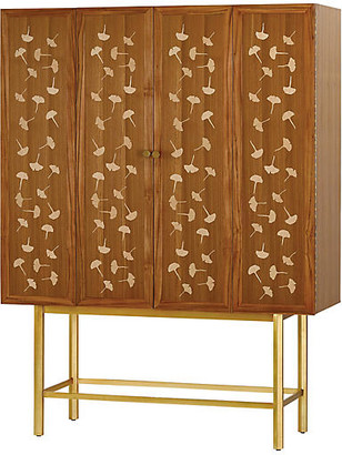 Currey & Company Bohlend Cabinet - Natural/Antique Mirror Glass