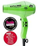 Parlux 3800 Ionic and Ceramic Hair Dryer (Green)