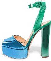 FSJ Platform Sandals for Women Thick heels Ankle Strap Buckle Pumps Size 7