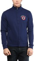 American Crew Men's Solid Full Sleeves Zipper Jacket With Applique -L (ACJK05-L)