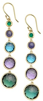 Ippolita 18K Yellow Gold Lollipop Lollitini Multi-Gemstone Graduated Drop Earrings
