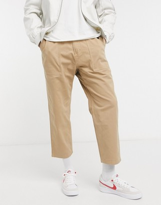 Gramicci loose tapered pants in stone