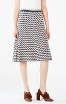 BCBGMAXAZRIA Dasen Pointelle Midi Skirt