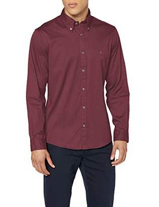 Brooks Brothers Men's Sport Shirt Garment Dye Twill Milano Casual,X-Large