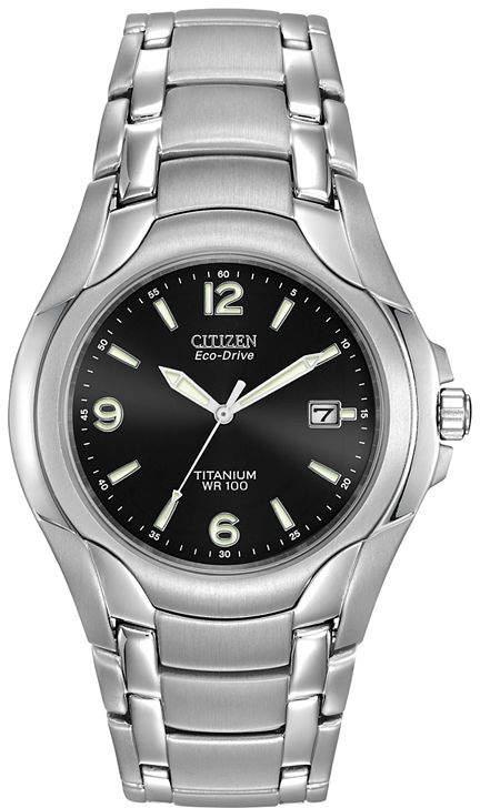 Citizen Eco-Drive Mens Titanium Watch BM6060-57F