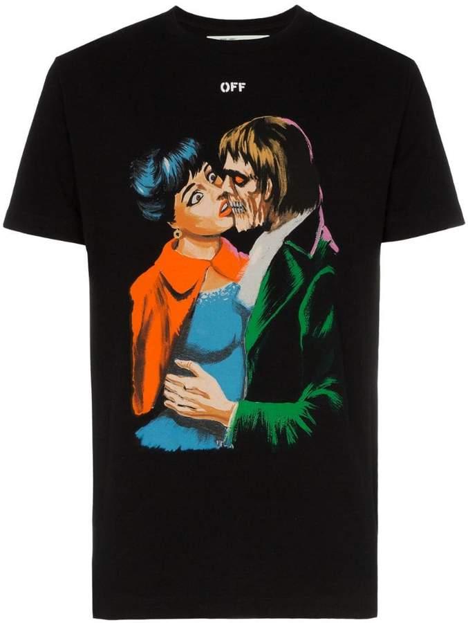 Off-White Kiss graphic print cotton T-shirt