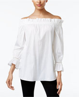 Alfani PRIMA Ruffled Off-The-Shoulder Peasant Top, Created for Macy's