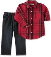 Kids Headquarters 2-Pc. Plaid Shirt and Jeans Set, Baby Boys