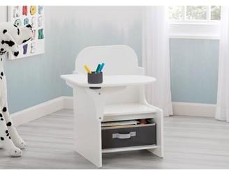 Kids Desk with Cup Holder Delta Children Color: Bianca White